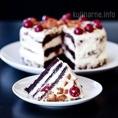 Black Forest Cake in Polish but when translated to English it is somewhat clear on ingredients and preparation, will take a bit of skill.