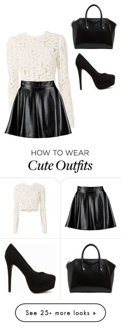 """""""Just a cute little outfit"""" by caitlyn-tucker-1 on Polyvore featuring A.L.C., Boohoo, Nly Shoes and Givenchy"""