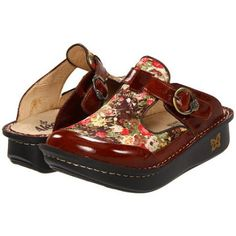 Alegria Classic Women's Clog Shoes - Brown Vintage Floral