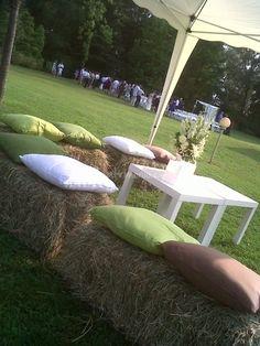 Seating for a barn wedding