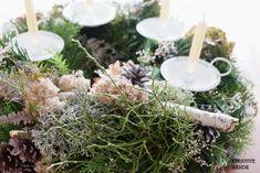 DIY Adventkranz binden - Kreative Hände Österreich - Blog Diy Blog, Table Decorations, Christmas, Home Decor, Celebration, Xmas, Decoration Home, Room Decor, Navidad
