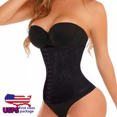 Waist trainer Great quality, please note the waist trainer was made outside of the US so the tag size (large) is not correct the actual size is a small/medium the waist fits 25-27 inches Intimates & Sleepwear Shapewear