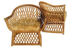 Rattan Lounge Chairs for infront of fireplace