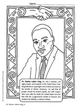 Martin Luther King Jr. coloring page for MLK Day (Jan.) or Black History Month (Feb.) http://www.teachervision.fen.com/martin-luther-king-jr/printable/4942.html