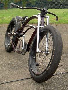 Velo Design, Bicycle Design, Cruiser Bicycle, Motorized Bicycle, Velo Vintage, Vintage Bikes, Custom Beach Cruiser, E Skate, Retro Bike