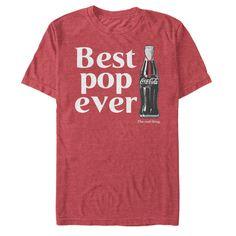 7bed9678b3e Coca-Cola Men's Best Pop Ever Bottle T-Shirt Glass Coke Bottles, Mens