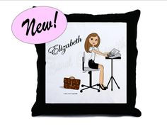 Court Reporter Pillow - Personalized