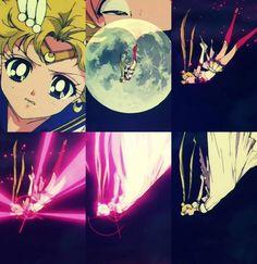 """Sailor Moon SuperS"" - Super Sailor Moon transforming into Princess Serenity."