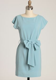 blue + bow this would be a lovely addition to ones wardrobe and can be dressed up or down!