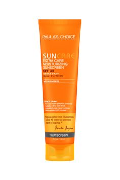 Paula's Choice Extra Care Moisturizing Sunscreen SPF 30 with antioxidants. 100% fragrance-free. For face & body. Available @ Paula's Choice #fragrancefree #unscented #scentfree
