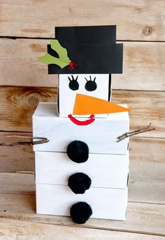snowman craft- snowman bowling game