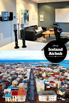 Luxury Airbnb in Reykjavik, Iceland. Located downtown within walking distance to city center and across from the old harbor.