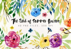 The End of Summer Flowers by Webvilla on @creativemarket