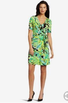 Lilly Pulitzer Women's Adalie Wrap Dress in Green with Envy