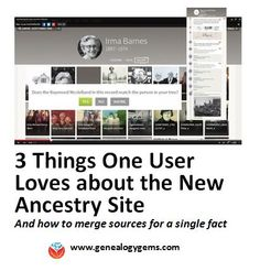 What's your experience been like at the new Ancestry site? Here's what one user loves about it.