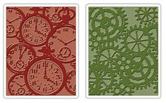 """Could emboss these then cut into heart shapes and use on mason jars or hang from trees or use to decorate """"Family tags"""" for the tables.  I already have the embossing folders."""