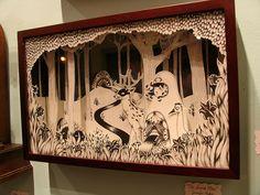 Jennifer Parks diorama at Pony Club in Portland by hungryeyeball, via Flickr