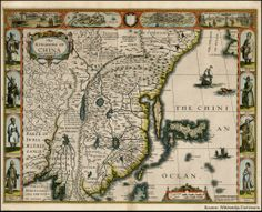 Travel History: Marco Polo, the World's First Great Travel Writer? - An old map of China where Marco Polo supposedly spent 17 years in the court of Kublai Khan Old Maps, Antique Maps, Vintage World Maps, Marco Polo Explorer, World History Facts, Art History, European Map, China Map, World Heritage Sites