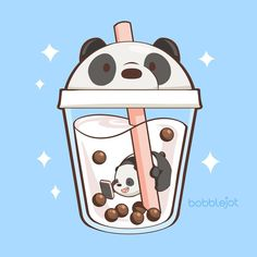 super cute we bare bears doodle! I love the panda themed boba tea, it's too kawaii! super cute we bare bears doodle! I love the panda themed boba tea, it's too kawaii! Cute Food Drawings, Cute Kawaii Drawings, Kawaii Doodles, Cute Doodles, Cute Animal Drawings, Cartoon Drawings, Cartoon Art, Logo Cartoon, Cartoon Characters