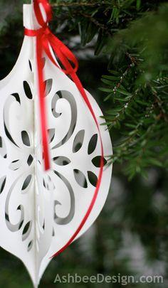 Ashbee Design: DIY Paper Ornament • Silhouette