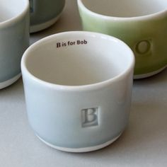 beautiful pottery tea cups made in RI.  Would be cute to get each kiddo one with their name inside