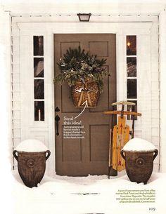 Holiday Door via design dump