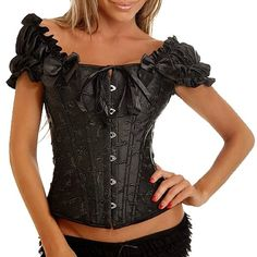 Chic Off-The-Shoulder Solid Color Ruffles Tied Bodycon Corset For Women