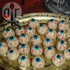 Griezelige ogen (bonbons voor Halloween) @ allrecipes.nl
