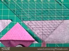 Wonder  Cut Ruler DemoKaren Johnson shows how to make half square triangles and three-color pinwheels from the Wonder Cut Ruler. The ruler can be purchased at http://www.connectingthreads.com/tool...