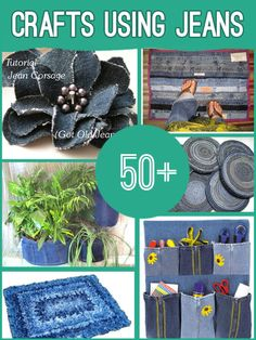 50 Craft Ideas for Old Jeans, WONDERFUL !  Check here-> http://wonderfuldiy.com/wonderful-50-craft-ideas-for-old-jeans/