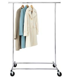 """""""Prevent guests from having to dig through a mountain of coats by investing in a metal folding garment rack.""""  — Ted Allen, host of Food Network's Chopped (Garment rack, $69; containerstore.com)   - CountryLiving.com"""