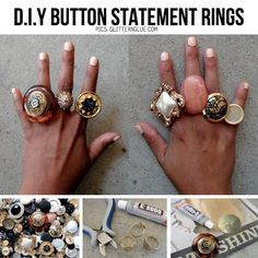 DIY button rings and other jewelery projects.