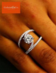 @gabrielco custom modern diamond wedding ring #diamondsdirect
