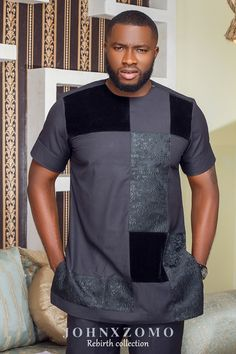 African Wear Styles For Men, African Shirts For Men, African Dresses For Kids, African Attire For Men, African Clothing For Men, African Print Dresses, Nigerian Men Fashion, Indian Men Fashion, African Print Fashion