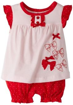 Absorba Baby-Girls Newborn Bow Creeper - List price: $20.00 Price: $8.00 Saving: $12.00 (60%)