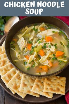 Chicken recipes, chicken soup, soups and stews, dinner recipes, oven Bean Soup Recipes, Healthy Soup Recipes, Chicken Recipes, Cooking Recipes, Healthy Cooking, Healthy Chicken, Healthy Food, Healthy Eating, Chicken Noodle Soup