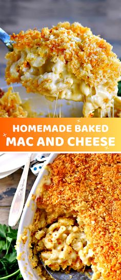 The BEST Homemade Mac and Cheese of your LIFE. Outrageously cheesy, ultra creamy, and topped with a crunchy Panko-Parmesan topping, this mac and cheese recipe is most definitely a keeper. – The ingredients and how to make it please visit the website Quick Pasta Recipes, Creamy Pasta Recipes, Pasta Dinner Recipes, Lunch Recipes, Pasta Lunch, Shrimp Recipes, Pasta Salad, Easy Recipes, Salad Recipes