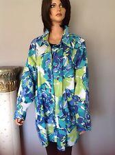 Liz & Me Plus Size 2X Cotton Shirt Pockets Designer Fashion