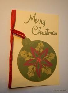 Glückwunschkarte Weihnachtskugel