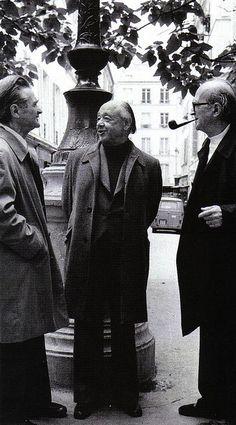 Emil Cioran, Eugene Ionesco y Mircea Eliade Emil Cioran, Eugene Ionesco, Charming Man, Writers And Poets, Literature Books, Book Writer, World Of Books, Portraits, Playwright