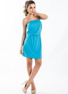 Vestido Tomara Caia Azul - Posthaus