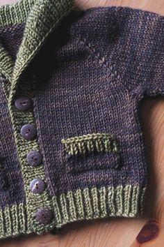 Boys Knitting Patterns Free, Baby Sweater Patterns, Baby Cardigan Knitting Pattern, Knitting For Kids, Baby Patterns, Free Knitting, Knitting Sweaters, Knitting Machine, Knitting Tutorials