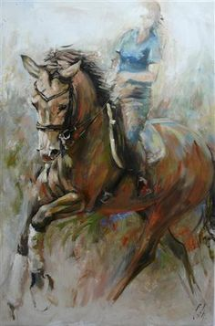 """HORSES Oil painting by Cath Driessen """"Elan 3"""" 80 x 120 http://www.cathdriessen.nl/ https://www.facebook.com/pages/Cath/447137662037857"""