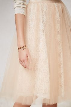 lace and tulle skirt.
