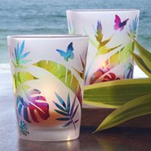 Tropical Fun Votive Pair NEW from PartyLite this Summer Shop now! www.candlelady.biz Party NOW! Double Host Credit in April!