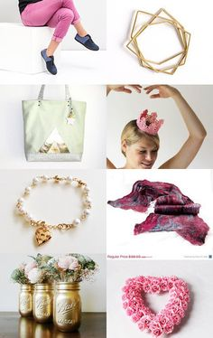 Pink and Gold by Nurgul on Etsy