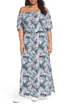 98d610cf3a Sejour Off the Shoulder Maxi Dress (Plus Size)