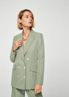 Mango Modal-Blend Suit Blazer - Burnt Orange S Casual Blazer, Plaid Blazer, Blazer Outfits, Blazer Dress, Blazer Fashion, Work Outfits, Blazers For Women, Suits For Women, Feminine Fashion
