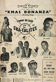 Great Ska show Xmas 1964 Reggae Rasta, Reggae Music, Rock Posters, Concert Posters, Music Posters, Mod Music, Jamaican Music, Dancehall Reggae, Ideas