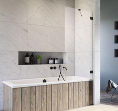 Elegancki parawan nawannowy Essenza Pro Black PNJ II z czarnym wykończeniem polskiego producenta Radaway. @lazienki_inspiracje #radaway #prysznic #Showers #BathroomShower #ShowerSystems #przebudowadomu #projektowaniewnetrz #modernbathroom #projektantwnetrz #decoration #interiorandhome #mynordicroom #remontdomu Bathtub, Bathroom, Standing Bath, Washroom, Bathtubs, Bath Tube, Full Bath, Bath, Bathrooms
